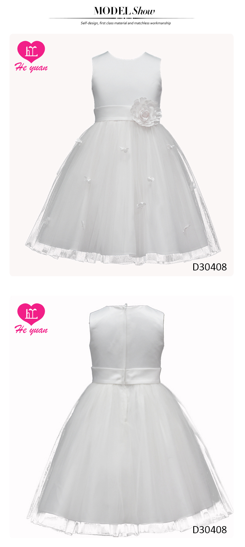 D30408 Party Princess Dress Pageant Wedding Bridesmaid Flower Girl Dress