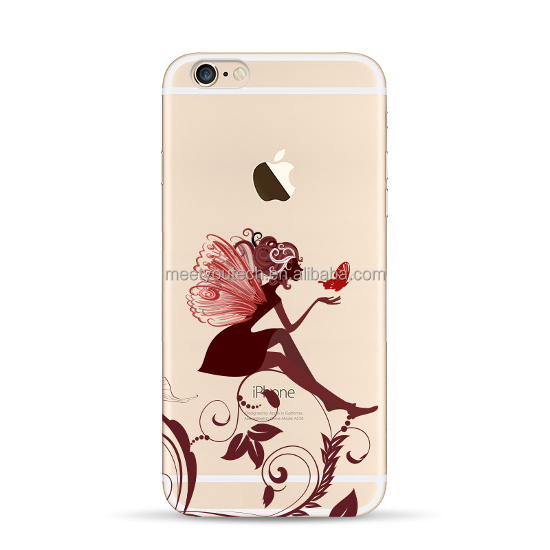 Best Quality silicone case for samsung s5 Butterfly Girl Designs