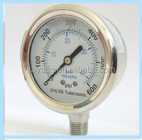 bourdon tube compound gauges pressure gauge