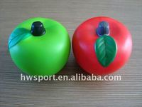 pu foam apple shape stress ball,fruit stress toy
