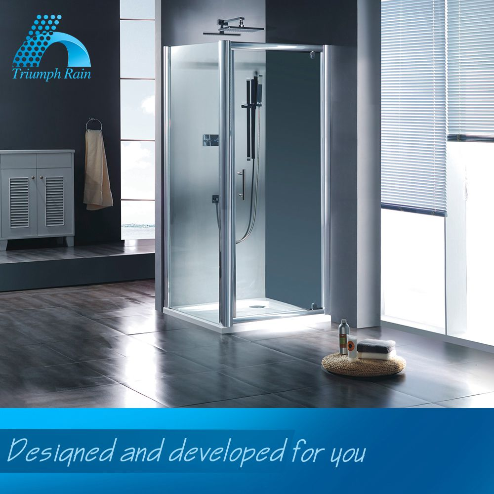 Export Quality Low Cost Custom Fitted Shower Room Corner Glass