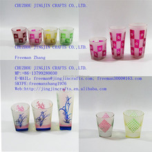 frosted glass tumbler/frosted glass drinkware/frosted glass beverageware