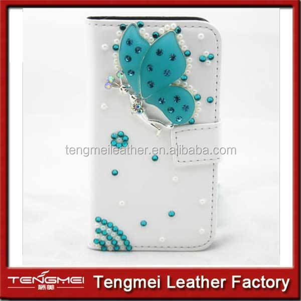 Diamonds Pearls PU leather slot wallet flip cover case skin for Nokia Lumia 1520