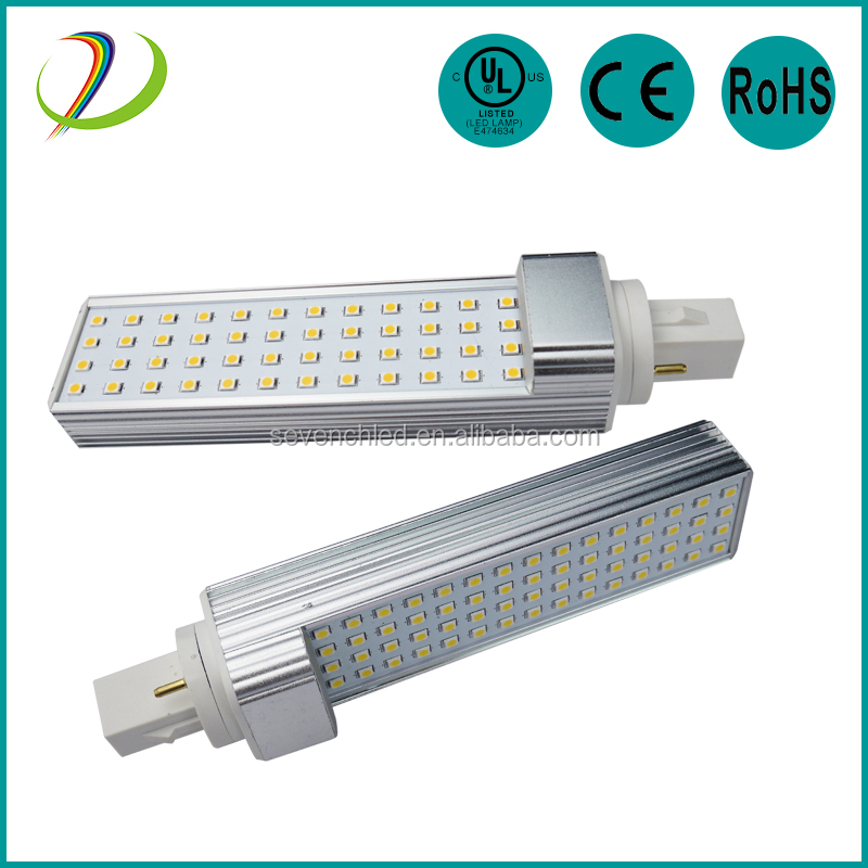 G24 LED pl light 12w 2 PIN 4 PIN LED G24 Lamp AC85-265V pl-l 4p led g24 plc led lamp