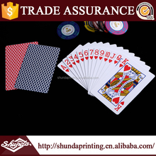 2017 Most popular products 4 colors plastic poker card for wholesale