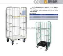 Supermarket Roll Cages Foldable Nestable Logistic Cart