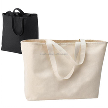 heavy duty cotton canvas shopping tote bags with logo printing