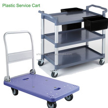 Quality and good price foldable restaurant food service cart with wheel