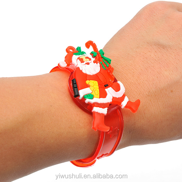 New hot selling Christmas lights with a flash wrist and a Christmas hand ring Christmas gift