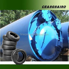 Negative pressure oil extracting machine by using waste tires and plastics