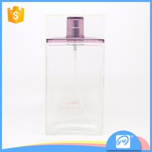A1957-100ML Free sample clear square car air freshener glass bottle