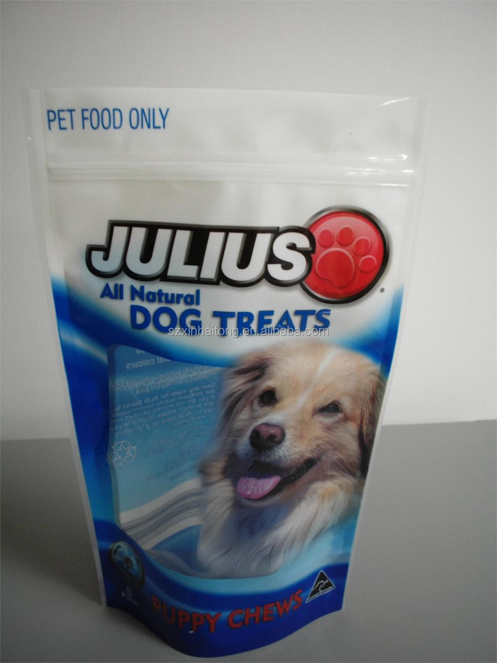 Stand Up Printing Pet Food Bag / Zipper Puppy dog food Bag -0160
