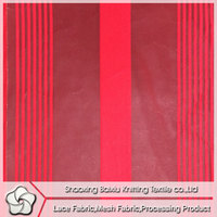 fashion design stripe fabric mesh
