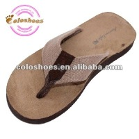 felt holey soles pointed toe shoes for man