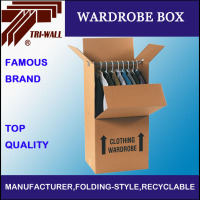 Custom 5ply Corrugated Moving Cloth Paper Wardrobe Box