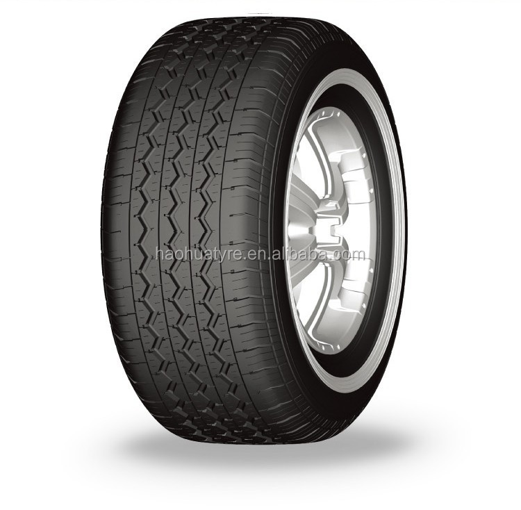 Passenger car tires with white wall design hot selling 195R14C