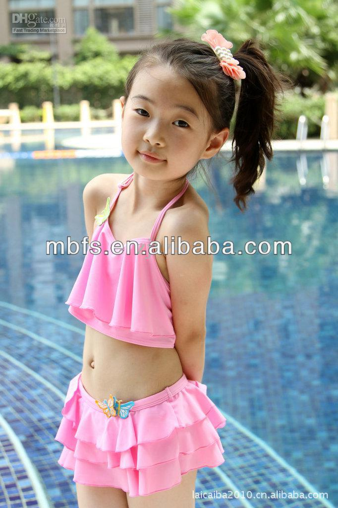 Young preteen asian model