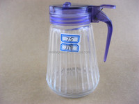 glass kitchenware/glass cruet/glass spice bottle with lid