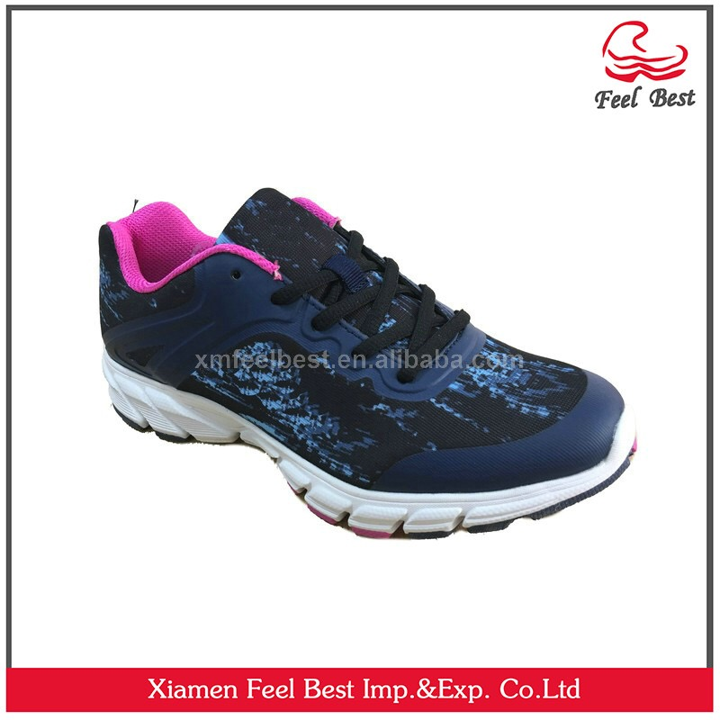 Classic fashion hot fabric printing rubber printing women running shoes