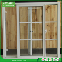 American Style Vertical sliding window upvc/pvc sliding window with mosquito screen pvc windows double