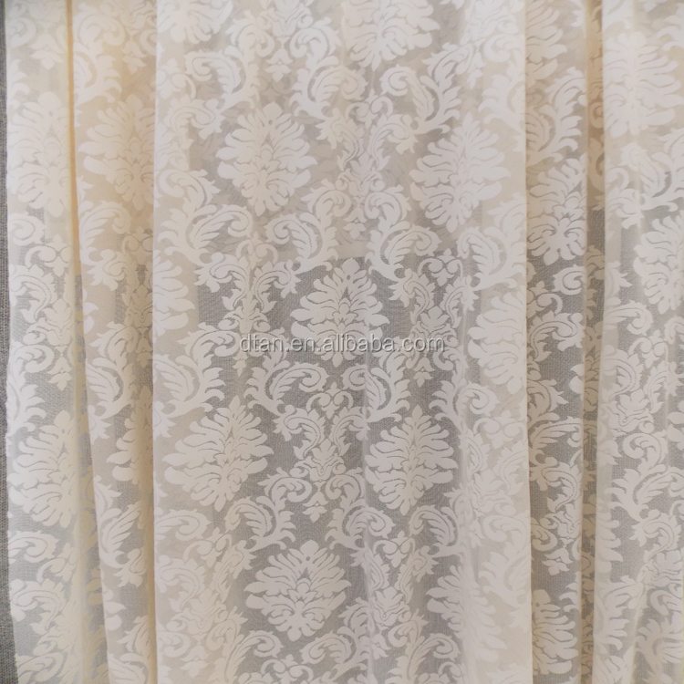 2015 new model design lace window curtains