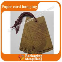 Factory price kraft hang tags wholesale