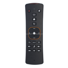 Smart mini 2.4GHz qwerty Keyboard remote control ,Fly Air Mouse with black Remote Control for tnt tv with hot keys