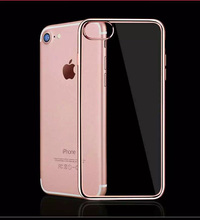 High Quality Clear Soft TPU Electroplating Mobile Phone Case Cover For iPhone 7