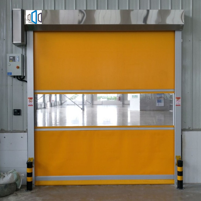 PVC automatic Industrial Roller shutter vertical lift doors