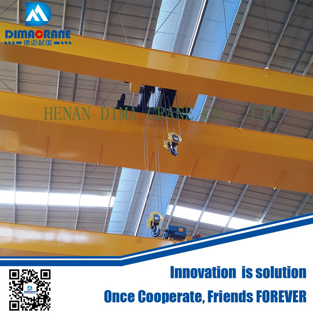 20 ton Europe style double beam electric overhead traveling crane price