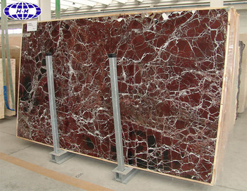 Indoor construction slab rosso levanto marble