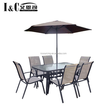 8PCS metal garden furniture dinning table and chair bistro set outdoor patio set factory outlet