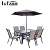 Factory outlet 8PCS metal outdoor patio garden bistro inning table and chair furniture set