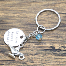 Aladdin Inspired keyring Let Your Heart Decide Aladdin & Princess Jasmine A Whole New World crystals Magic lamp