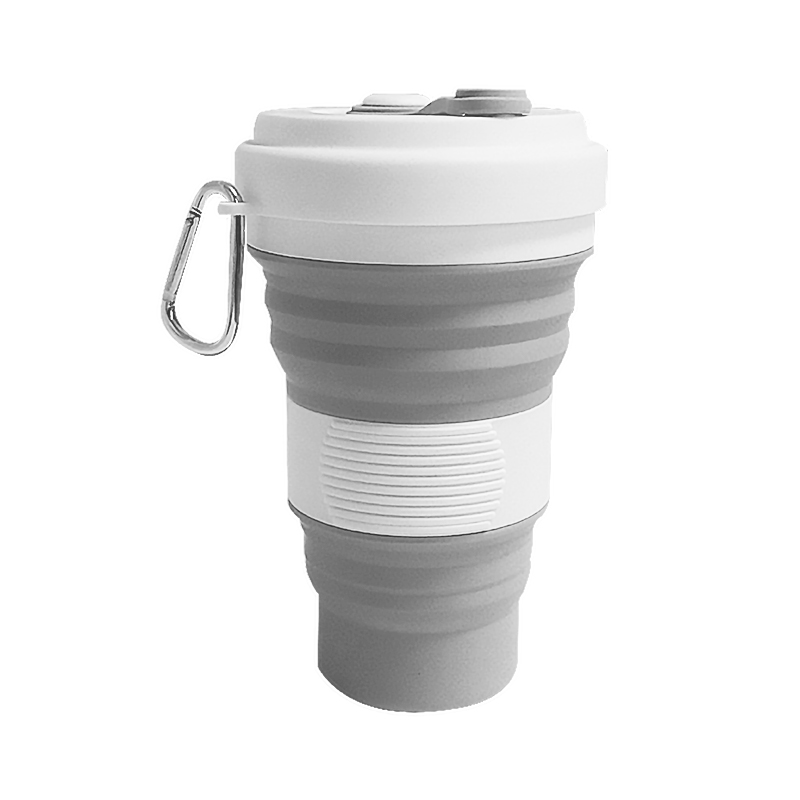 550ml bpa free Leak-proof Reusable folding foldable Silicone Collapsible Travel <strong>Cup</strong>