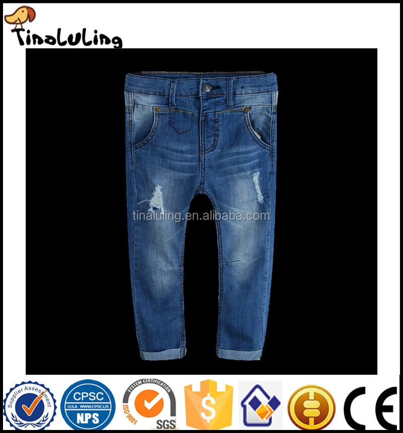 New Fashion boys jeans with letter print 2017spring autumn good quality jean kids