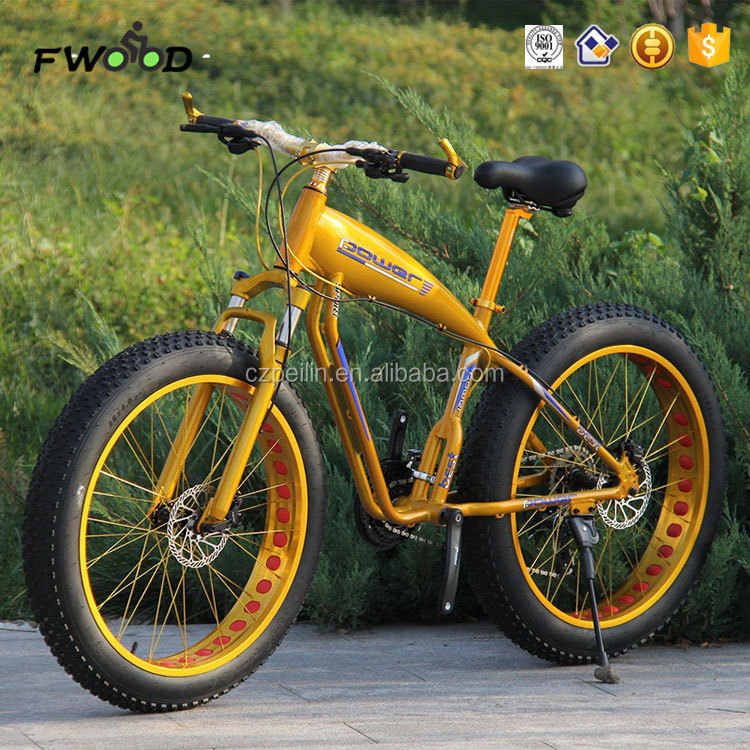 "Adult 26"" gloden new style aluminum alloy frame fat tire chopper bike bicycle"