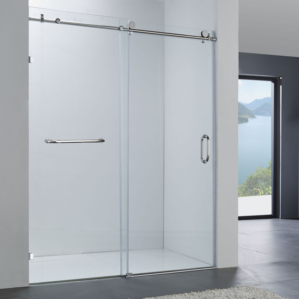 5 Foot Shower Doors.304 Handle 5 Foot Frameless Sliding Glass Shower Door Jp0208 Buy Sliding Glass Shower Door Frameless Glass Shower Door Glass Shower Door Product On