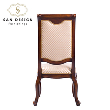 China hot sell baroque high back chair wooden dining chair wholesale