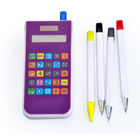 Touch Screen Pencil Case Calculator,Pencil Box with calculator for Kids