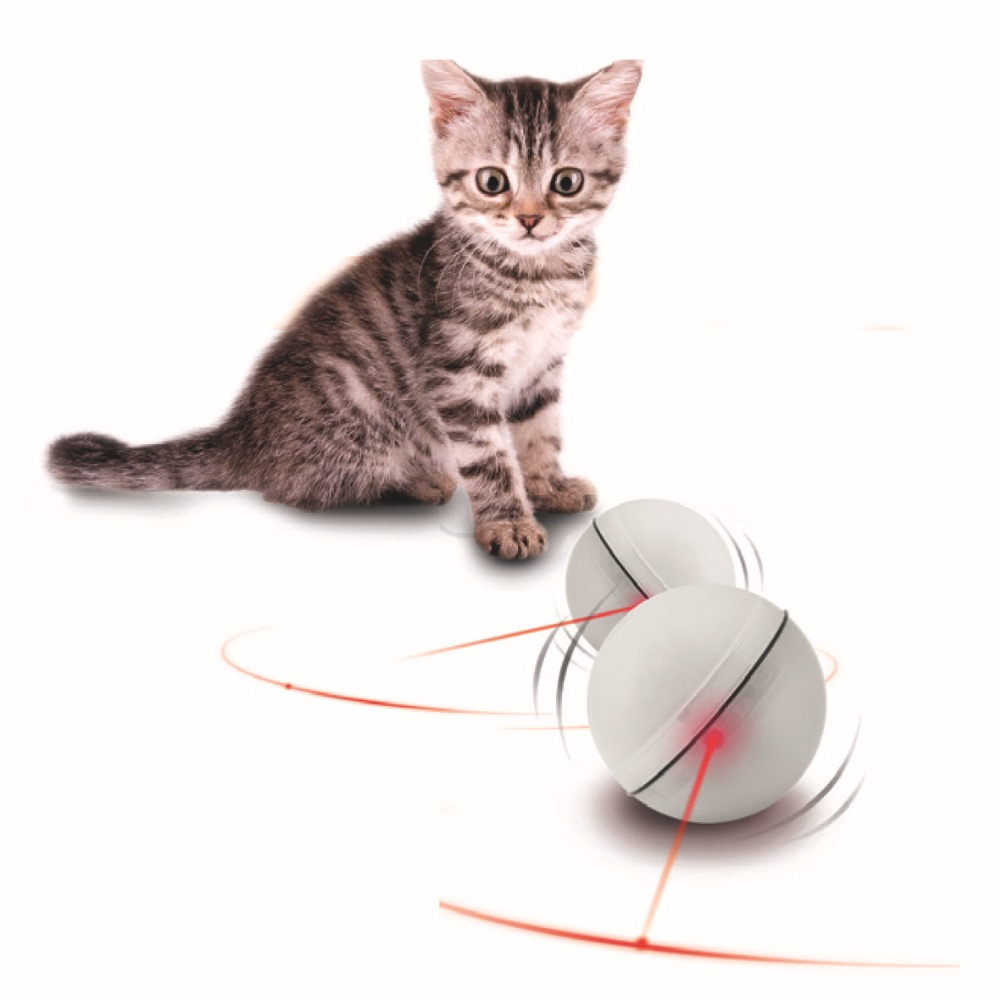 Electric toys, pet toys LED flash light ball rolling cat funny cat toys