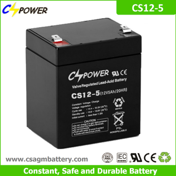 Cspower agm 12V 5Ah rechargeable ups battery for Power tools