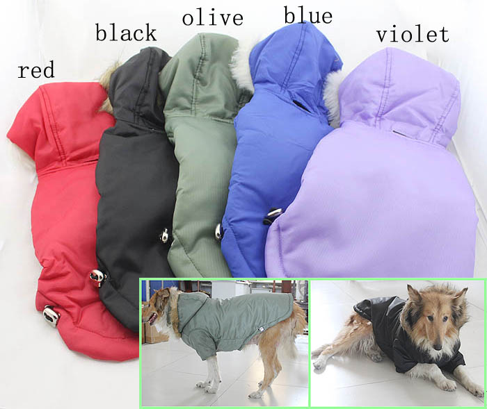 Wholesale Dog Clothes Large Dog Clothing Winter Coat Hoodies With Fur