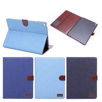 luxury Jeans design tpu case inside leather cover case for iPad air 2 with belt clip holder