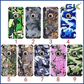 [GK] 3D Relief Camouflage Shockproof 2 in 1 Cover For iPhone 7 Cell Phone Case