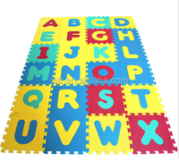 EVA Floor Mat 36 tiles + 24 borders Kids Baby Alphabet Number Interlocking EVA Foam Floor Puzzle Play Mat