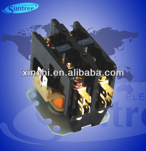 CJX9 SA air conditioning magnetic contactor 2 pole 25A 24V 120V 240V air conditioner contactor