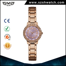 Shenzhen watch manufacturer china latest fashion alloy band women small dial diamond wrist watches for girls ladies