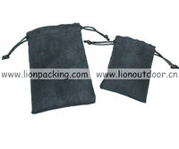 artificial leather velvet pouches for jewelry packing