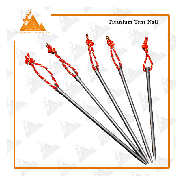 Tent Nail Stake With Rope Titanium Peg